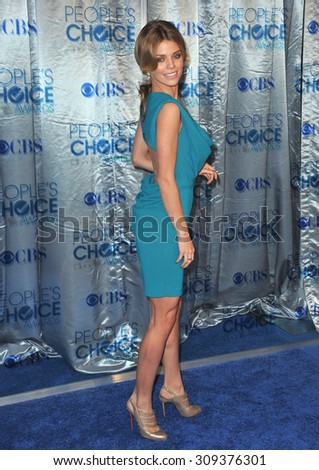 LOS ANGELES, CA - JANUARY 5, 2011: AnnaLynne McCord at the 2011 Peoples' Choice Awards at the Nokia Theatre L.A. Live in downtown Los Angeles.  - stock photo