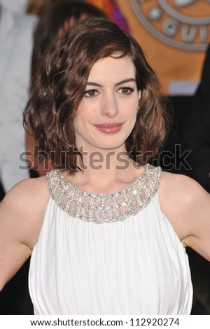 LOS ANGELES, CA - JANUARY 25, 2009: Anne Hathaway at the 15th Annual Screen Actors Guild Awards at the Shrine Auditorium, Los Angeles.
