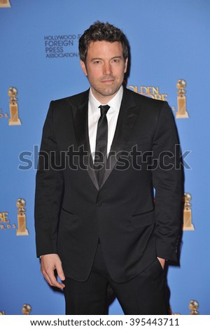 LOS ANGELES, CA - JANUARY 12, 2014: Ben Affleck in the press room at the 71st Annual Golden Globe Awards