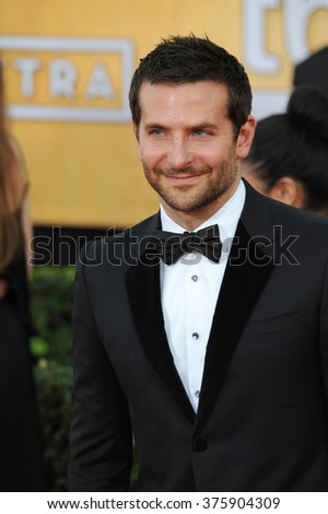 LOS ANGELES, CA - JANUARY 18, 2014: Bradley Cooper at the 20th Annual Screen Actors Guild Awards at the Shrine Auditorium.