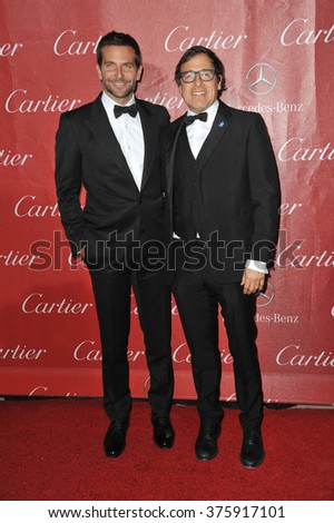 LOS ANGELES, CA - JANUARY 4, 2014: Bradley Cooper & director David O. Russell at the 2014 Palm Springs International Film Festival Awards gala at the Palm Springs Convention Centre.