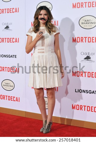 "LOS ANGELES, CA - JANUARY 21, 2015: Carly Steel at the Los Angeles premiere of her movie ""Mortdecai"" at the TCL Chinese Theatre, Hollywood."