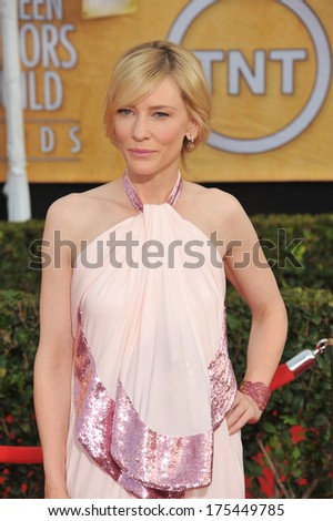 LOS ANGELES, CA - JANUARY 18, 2014: Cate Blanchett at the 20th Annual Screen Actors Guild Awards at the Shrine Auditorium.  - stock photo