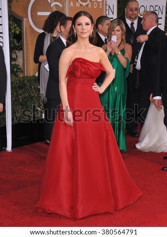 LOS ANGELES, CA - JANUARY 11, 2015: Catherine Zeta-Jones at the 72nd Annual Golden Globe Awards at the Beverly Hilton Hotel, Beverly Hills. - stock photo