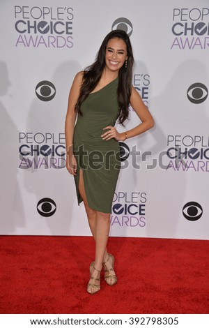 LOS ANGELES, CA - JANUARY 6, 2016: Chloe Bridges at the People's Choice Awards 2016 at the Microsoft Theatre LA Live.