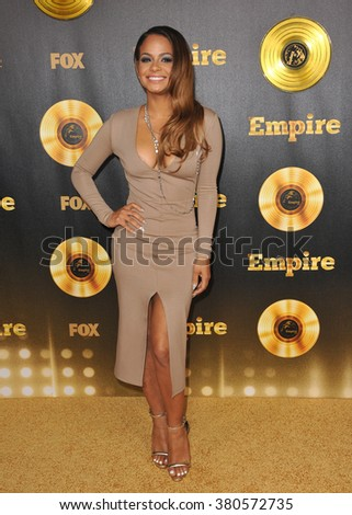 "LOS ANGELES, CA - JANUARY 6, 2015: Christina Milian at the premiere of Fox's new TV series ""Empire"" at the Cinerama Dome, Hollywood. - stock photo"