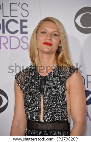 LOS ANGELES, CA - JANUARY 6, 2016: Claire Danes at the People's Choice Awards 2016 at the Microsoft Theatre LA Live.
