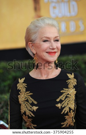 LOS ANGELES, CA - JANUARY 18, 2014: Dame Helen Mirren at the 20th Annual Screen Actors Guild Awards at the Shrine Auditorium.