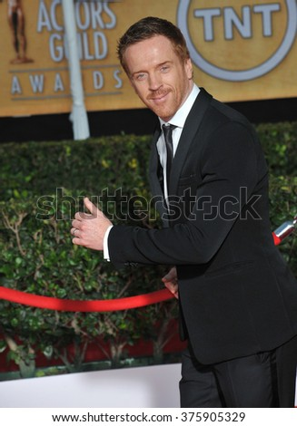 LOS ANGELES, CA - JANUARY 18, 2014: Damian Lewis at the 20th Annual Screen Actors Guild Awards at the Shrine Auditorium.