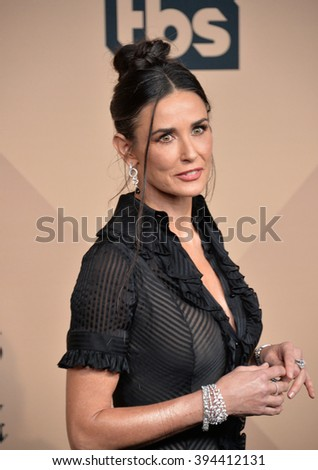 LOS ANGELES, CA - JANUARY 30, 2016: Demi Moore at the 22nd Annual Screen Actors Guild Awards at the Shrine Auditorium - stock photo