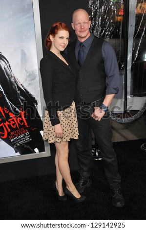 "LOS ANGELES, CA - JANUARY 24, 2013: Derek Mears at the Los Angeles premiere of his new movie ""Hansel & Gretel: Witch Hunters"" at Grauman's Chinese Theatre, Hollywood. - stock photo"