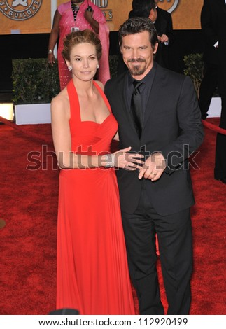 LOS ANGELES, CA - JANUARY 25, 2009: Diane Lane & Josh Brolin at the 15th Annual Screen Actors Guild Awards at the Shrine Auditorium, Los Angeles.