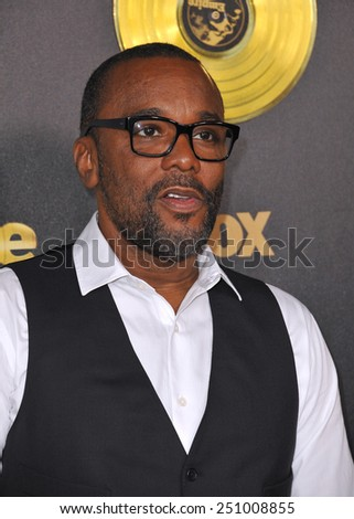 """LOS ANGELES, CA - JANUARY 6, 2015: Director Lee Daniels at the premiere of Fox's new TV series """"Empire"""" at the Cinerama Dome, Hollywood.  - stock photo"""
