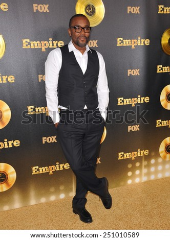 "LOS ANGELES, CA - JANUARY 6, 2015: Director Lee Daniels at the premiere of Fox's new TV series ""Empire"" at the Cinerama Dome, Hollywood.  - stock photo"