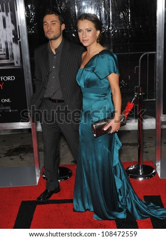 "LOS ANGELES, CA - JANUARY 19, 2010: Edyta Sliwinska & husband Alec mazo at the premiere of ""Extraordinary Measures"" at Grauman's Chinese Theatre, Hollywood."