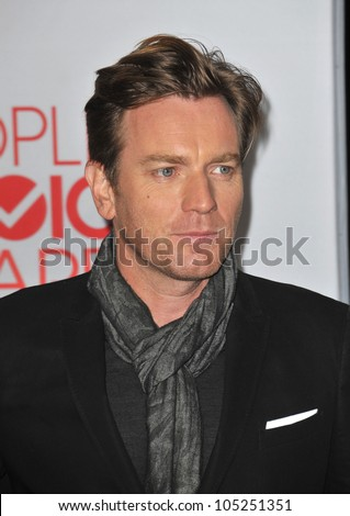 LOS ANGELES, CA - JANUARY 11, 2012: Ewan McGregor at the 2012 People's Choice Awards at the Nokia Theatre L.A. Live. January 11, 2012  Los Angeles, CA