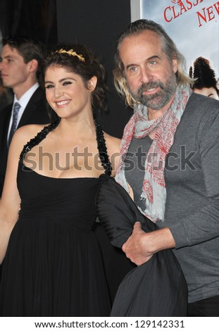 "LOS ANGELES, CA - JANUARY 24, 2013: Gemma Arterton & Peter Stormare at the Los Angeles premiere of their new movie ""Hansel & Gretel: Witch Hunters"" at Grauman's Chinese Theatre, Hollywood."