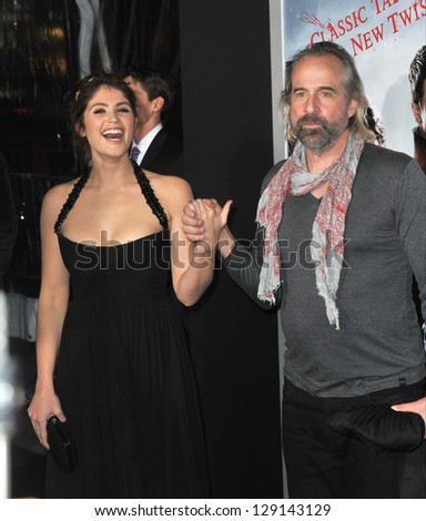 "LOS ANGELES, CA - JANUARY 24, 2013: Gemma Arterton & Peter Stormare at the Los Angeles premiere of their new movie ""Hansel & Gretel: Witch Hunters"" at Grauman's Chinese Theatre, Hollywood. - stock photo"