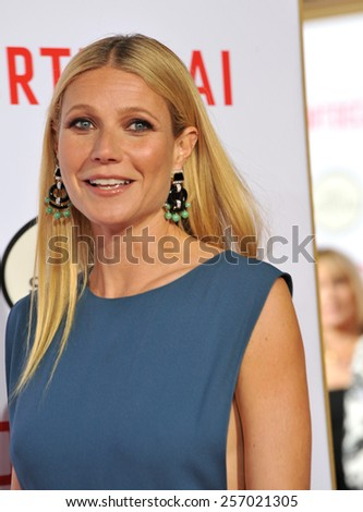 "LOS ANGELES, CA - JANUARY 21, 2015: Gwyneth Paltrow at the Los Angeles premiere of her movie ""Mortdecai"" at the TCL Chinese Theatre, Hollywood.  - stock photo"