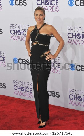 LOS ANGELES, CA - JANUARY 9, 2013: Heidi Klum at the People's Choice Awards 2013 at the Nokia Theatre L.A. Live.