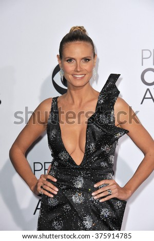 LOS ANGELES, CA - JANUARY 8, 2014: Heidi Klum at the 2014 People's Choice Awards at the Nokia Theatre, LA Live.