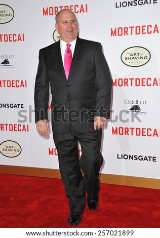 "LOS ANGELES, CA - JANUARY 21, 2015: James DuMont at the Los Angeles premiere of ""Mortdecai"" at the TCL Chinese Theatre, Hollywood.  - stock photo"