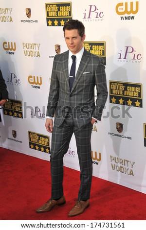 LOS ANGELES, CA - JANUARY 16, 2014: James Marsden at the 19th Annual Critics' Choice Awards at The Barker Hangar, Santa Monica Airport.  - stock photo