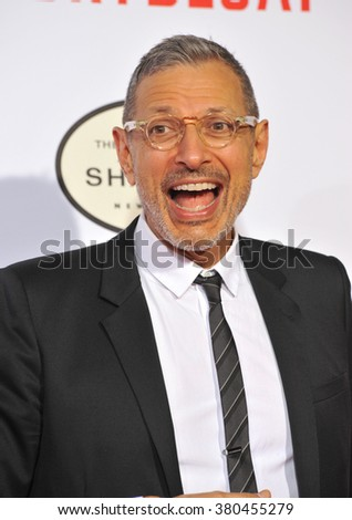 """LOS ANGELES, CA - JANUARY 21, 2015: Jeff Goldblum at the Los Angeles premiere of his movie """"Mortdecai"""" at the TCL Chinese Theatre, Hollywood. - stock photo"""