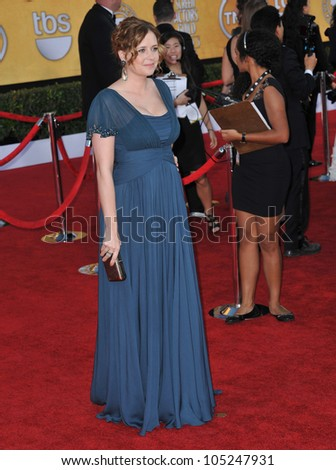 LOS ANGELES, CA - JANUARY 29, 2012: Jenna Fisher at the 17th Annual Screen Actors Guild Awards at the Shrine Auditorium, Los Angeles. January 29, 2012  Los Angeles, CA