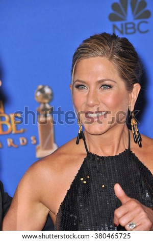 LOS ANGELES, CA - JANUARY 11, 2015: Jennifer Aniston at the 72nd Annual Golden Globe Awards at the Beverly Hilton Hotel, Beverly Hills. - stock photo