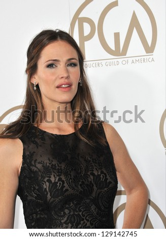 LOS ANGELES, CA - JANUARY 26, 2013: Jennifer Garner at the 2013 Producers Guild Awards at the Beverly Hilton Hotel.