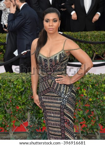 LOS ANGELES, CA - JANUARY 30, 2016: Jessica Pimentel at the 22nd Annual Screen Actors Guild Awards at the Shrine Auditorium.