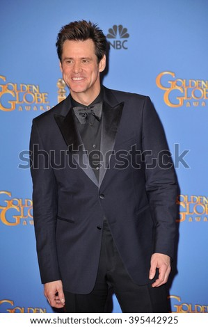 LOS ANGELES, CA - JANUARY 12, 2014: Jim Carrey in the press room at the 71st Annual Golden Globe Awards