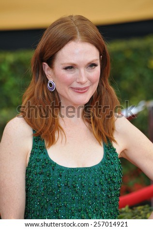 LOS ANGELES, CA - JANUARY 25, 2015: Juliane Moore at the 2015 Screen Actors Guild  Awards at the Shrine Auditorium.  - stock photo