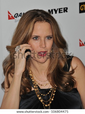 LOS ANGELES, CA - JANUARY 22, 2011: Kelly Preston at the 2011 G'Day USA Black Tie Gala at the Hollywood Palladium. January 22, 2011  Los Angeles, CA