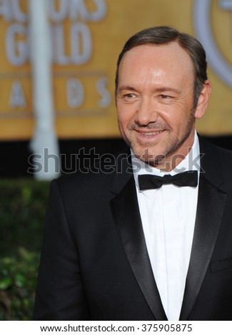 LOS ANGELES, CA - JANUARY 18, 2014: Kevin Spacey at the 20th Annual Screen Actors Guild Awards at the Shrine Auditorium. - stock photo