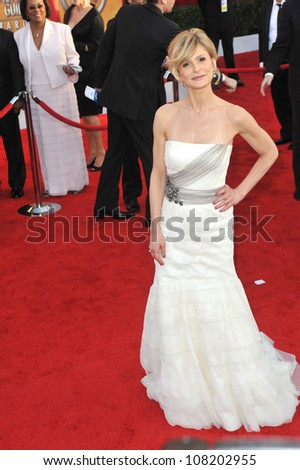 LOS ANGELES, CA - JANUARY 23, 2010: Kyra Sedgwick at the 16th Annual Screen Actors Guild Awards at the Shrine Auditorium.