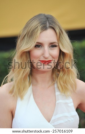 LOS ANGELES, CA - JANUARY 25, 2015: Laura Carmichael at the 2015 Screen Actors Guild  Awards at the Shrine Auditorium.  - stock photo
