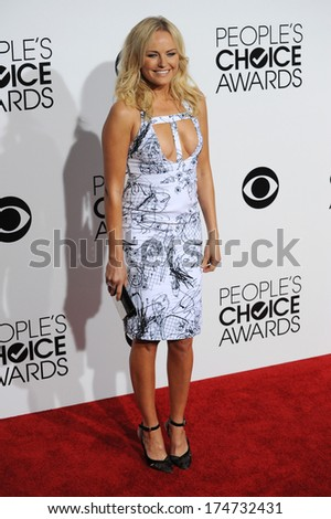 LOS ANGELES, CA - JANUARY 8, 2014: Malin Akerman at the 2014 People's Choice Awards at the Nokia Theatre, LA Live.