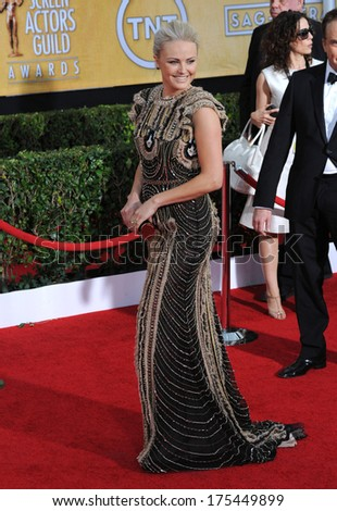 LOS ANGELES, CA - JANUARY 18, 2014: Malin Akerman at the 20th Annual Screen Actors Guild Awards at the Shrine Auditorium.