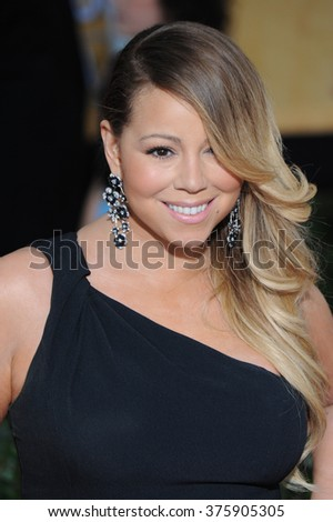 LOS ANGELES, CA - JANUARY 18, 2014: Mariah Carey at the 20th Annual Screen Actors Guild Awards at the Shrine Auditorium.