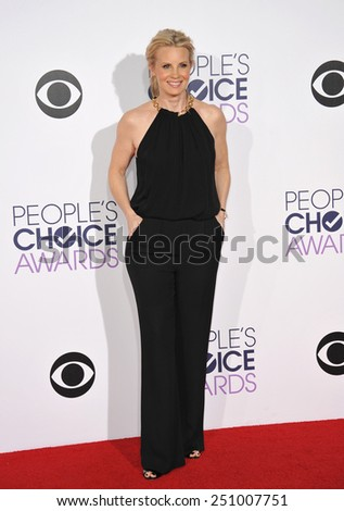 LOS ANGELES, CA - JANUARY 7, 2015: Monica Potter at the 2015 People's Choice  Awards at the Nokia Theatre L.A. Live downtown Los Angeles.  - stock photo