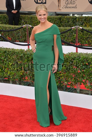 LOS ANGELES, CA - JANUARY 30, 2016: Nancy O'Dell at the 22nd Annual Screen Actors Guild Awards at the Shrine Auditorium.