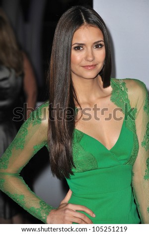 LOS ANGELES, CA - JANUARY 11, 2012: Nina Dobrev at the 2012 People's Choice Awards at the Nokia Theatre L.A. Live. January 11, 2012  Los Angeles, CA