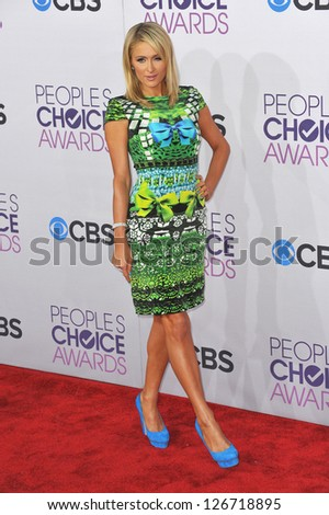 LOS ANGELES, CA - JANUARY 9, 2013: Paris Hilton at the People's Choice Awards 2013 at the Nokia Theatre L.A. Live.