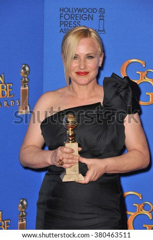 LOS ANGELES, CA - JANUARY 11, 2015: Patricia Arquette at the 72nd Annual Golden Globe Awards at the Beverly Hilton Hotel, Beverly Hills. - stock photo