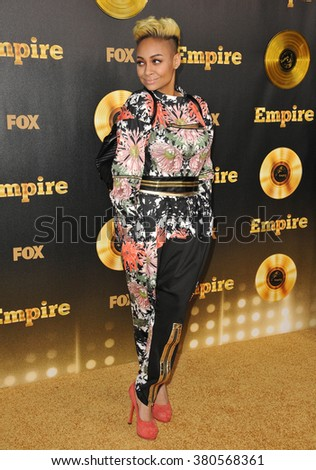 "LOS ANGELES, CA - JANUARY 6, 2015: Raven Simone at the premiere of Fox's new TV series ""Empire"" at the Cinerama Dome, Hollywood. - stock photo"