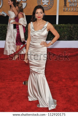 LOS ANGELES, CA - JANUARY 25, 2009: Rosario Dawson at the 15th Annual Screen Actors Guild Awards at the Shrine Auditorium, Los Angeles.