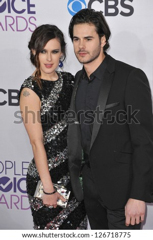 LOS ANGELES, CA - JANUARY 9, 2013: Rumer Willis & Jayson Blair at the People's Choice Awards 2013 at the Nokia Theatre L.A. Live.