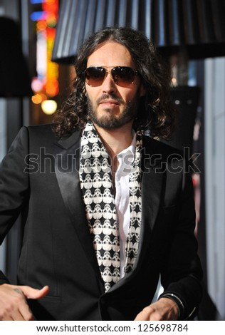 "LOS ANGELES, CA - JANUARY 7, 2013: Russell Brand at the world premiere of ""Gangster Squad"" at Grauman's Chinese Theatre, Hollywood."